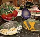 Set of 4 St Luke Victor Palumbo Fused Art Glass Vegetable Plates Seymour Mann