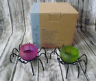 RARE PartyLite Clearly Creative Tealight Candle Holder SPIDERS Halloween P90875