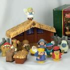 FISHER PRICE Little People DELUXE CHRISTMAS STORY Nativity SET Light  Sound