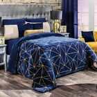 GLASS GEOMETRIC FLANNEL EXTRA SOFT BLANKET VERY SOFTY THICK AND WARM KING SIZE