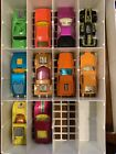VINTAGE HOTWHEELS 24 CAR VINYL CASE 1980 WITH 22 VINTAGE MATCHBOX CARS AS IS
