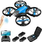 RC Drone Mini Small Light Altitude Hold 24Ghz Quadcopter for Kids Blue