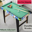 32 Wood Small Pool Table Family Kid Game Snooker Indoor Mini Billiards Toys Set