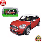 Mini Cooper S Paceman Red 1 24 Diecast Model Car Real Rubber Tires by Welly