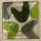 Vintage Iridescent Art Glass Footed Fused Glass Signed Shepardson Studios 5