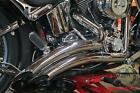 Harley Softail VANCE  HINS BIG RADIUS 2 INTO 2 Exhaust Pipes System READ FIT