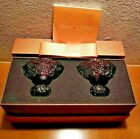 LIULI GONG FANG Crystal glass Sake cup  Shot glass 2 pieces violet With box