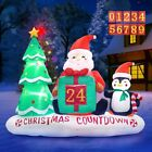 6 Ft Inflatable Christmas Count Down With Christmas Tree Santa Claus  Penguin