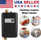 Mini 110V 3000W Instant Electric Tankless Hot Water Heater Shower Kitchen Bath