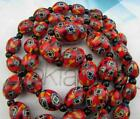 Art Deco Venetian Matched Cane Millefiori Glass Beads Necklace