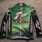 Cannondale Mens Medium Long Sleeve Cycling Jersey 7up Maxxis Retro Design