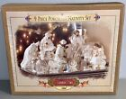 2000 Grandeur Noel 9 Piece Porcelain Christmas Nativity Set Collectors Edition