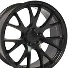 20x9 Satin Black Wheels SET Fits Challenger Hellcat Dodge Charger 300C