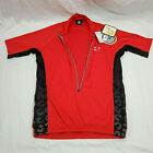 Cannondale Bike Cycling Vertex Jersey Mens Large Red NWT Vintage USA Quarter Zip