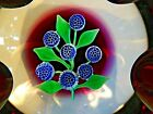 FRANCIS WHITTEMORE Glass Complex Millefiori Bouquet Flower FACETED Paperweight