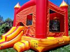 Commercial Inflatable Bounce House Fire Marble Combo Slide 15HP Blower 100 PVC