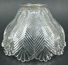 Vintage Light Shade Antique Herringbone Design Holophane Style Glass Replacement