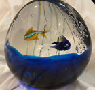 Murano Large Glass Art Fish Aquarium Signed Beautiful Vintage from Italy
