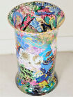 VERY BEAUTIFUL LARGE VASE GLASS WITH GORGEOUS COLORFUL IMAGES LIGHT GOES THRU