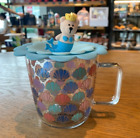 New Starbucks 2020 Ocean Series Colorful Scallop Shell Coffee Glass Mug with lid