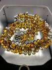 Vintage French Unsigned Early Louis Rousselet Poured Glass Teardrop Necklace