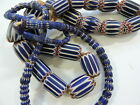 COBALT CHEVRON TRADE BEADS COLLECTORS STRANDS RARE OFFERING OLD