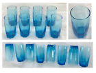 Blue Drinking Glass Tumblers 16 oz Cristar AMADEUS Set of 8 NEW