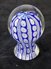 Vintage Millefiori Murano Style Pattern Paperweight Hand Blown Glass Mushroom