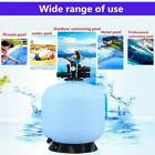 27 Large Swimming Pool Sand Filter System Above Ground Water Pump+6 Way Valve