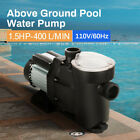 ANBULL 15hp Swimming Pool Pump Powerful Above In Ground Removable Basket UL