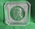 Antique EAPG The Patriot and Soldier Ulysses S Grant Square Clear Glass Plate