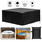 Waterproof Square Hot Tub Cover Outdoor SPA Covers Dust Proof UV Resistant Black