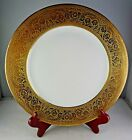 French China Limoges Antique Porcelain Gold Encrusted Cabinet Plate