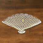 Vintage Fenton Hobnail No 389 Opalescent Fan Tray 1940 1959 10 Inch by 7 Inch