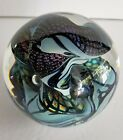 Large 5 1 4 Dichroic Art Glass Sphere Controlled Bubbles Signed