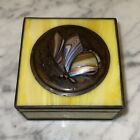 Signed Daniel Boone artist for Orient  Flume Fine Butterfly  Glass Box 1981
