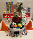 41PC Sports Soccer Easter Basket Eggs Plush Boyd's Collection Bear Candy Toys