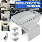 Car Center Console Armrest Storage Box Rotatable W Cup Holder Ashtray Universal