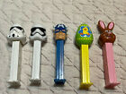 Lot of 5 Pez Dispensers Stormtroopers Captain America Easter Egg Easter Bunny
