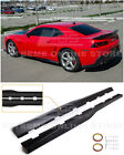 EOS For 10 15 Camaro  ZL1 Style CARBON FIBER Side Skirts Rocker Panel Pair