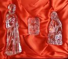 Waterford Crystal Nativity Holy Family 3 pc set Signed Baby Jesus Mary Joseph