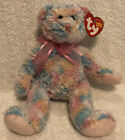 "Retired 2004 Ty Beanie Baby ~~ Twirls ~~ NWT ~ 8"" Pastel Patchwork Bear Plush"