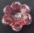 Cranberry Murano Italy Art Glass Bullicante Controlled Bubbles Folded