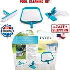 Intex Basic Pool Cleaning Kit Eaf Skimmer Wall Brush and Vacuum Head NEW