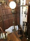 Antique Victorian Piano Floor Oil Lamp Electrified Brass 57 1 2