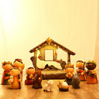 Christmas Nativity Set Scene Figures Cartoon Figurines Ornaments Home Decor