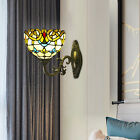 Tiffany Style Wall Sconce Stained Glass Shade Wall Lamp Lighting Decor Fixture
