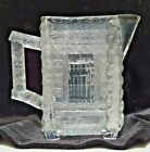 EAPG CENTRAL GLASS CREAM PITCHER LOG CABIN 5 TALL