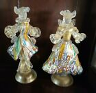 Pair of Stunning Murano Glass Millefiore Figures Purchased in Venice Italy