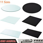 Table Top Glass Clear Tempered Replacement Protection Cover Round Rectangular US